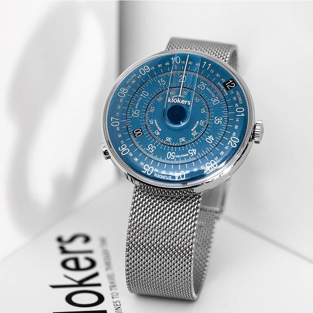 klokers | KLOK-01-D7錶頭 午夜藍色 - 米蘭錶帶