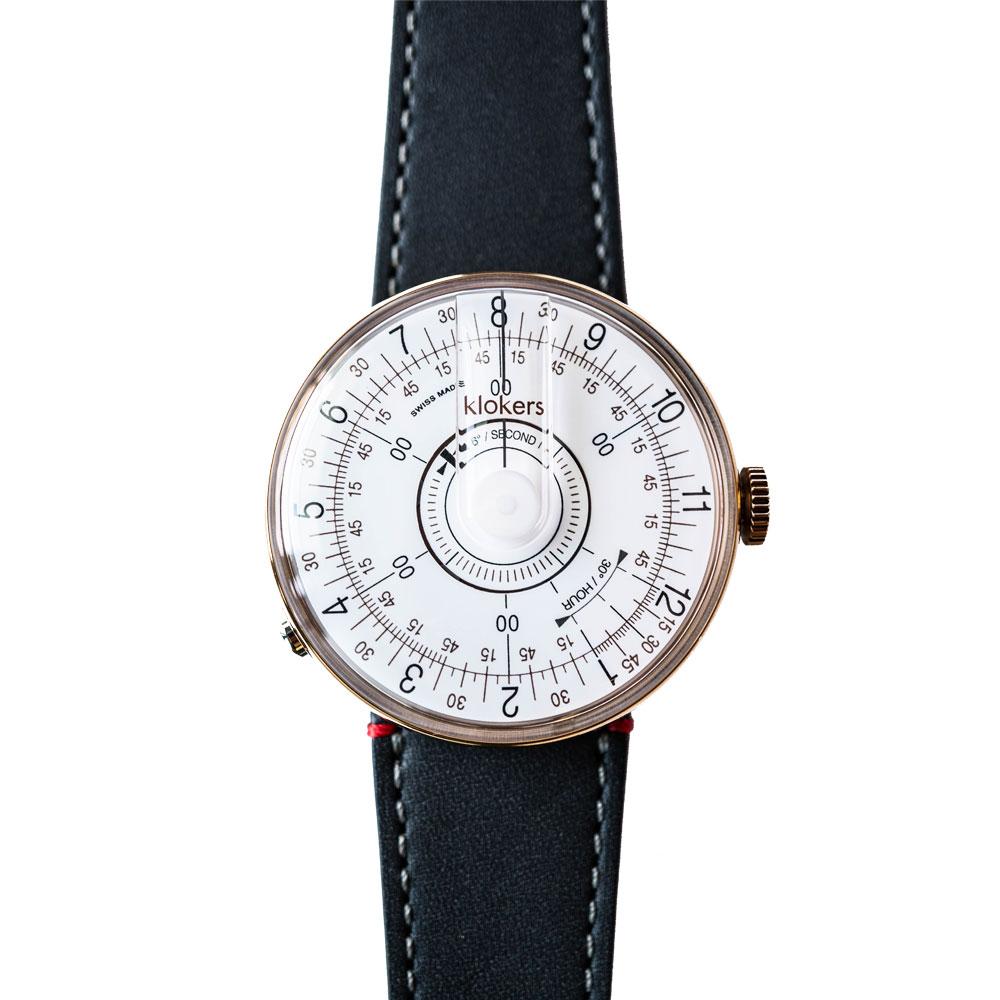 klokers | KLOK-08-D1錶頭 白軸 - 單圈皮革錶帶
