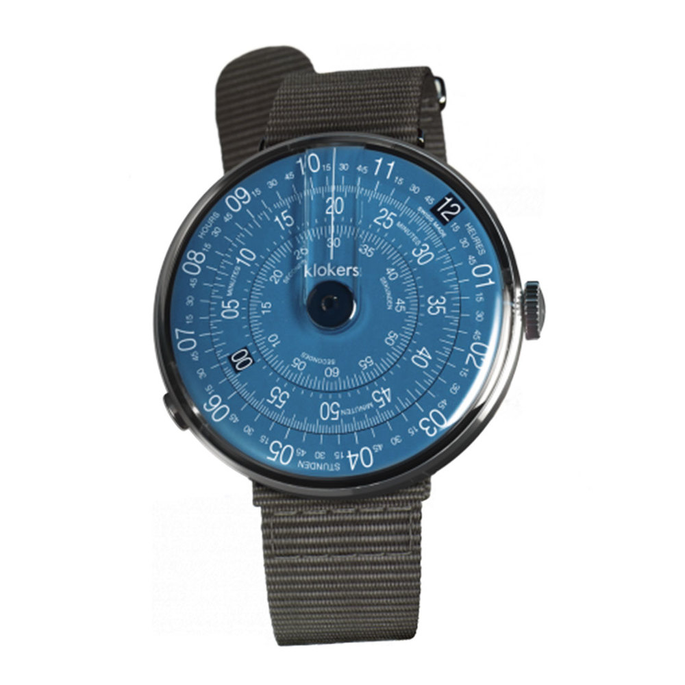 klokers   KLOK-01-D7錶頭 午夜藍 - 尼龍錶帶