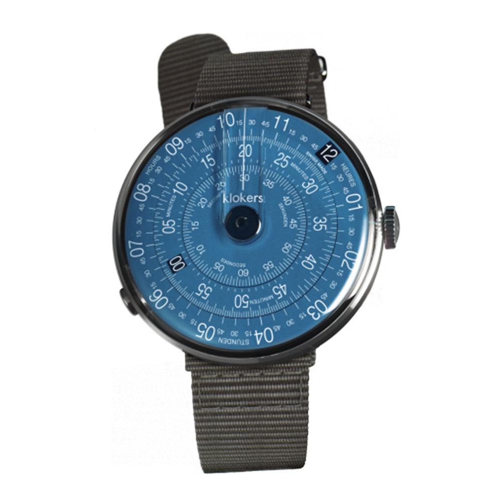 klokers | KLOK-01-D7錶頭 午夜藍 - 尼龍錶帶