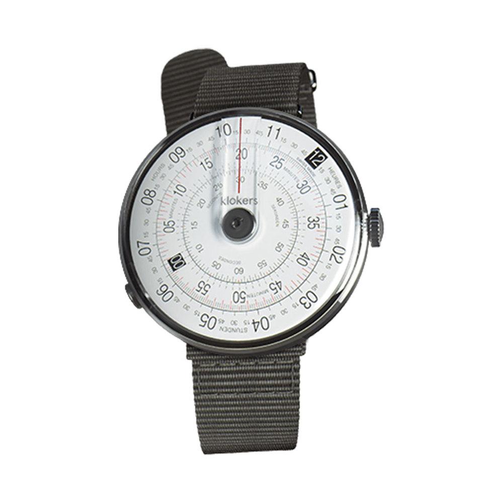 klokers   KLOK-01-D2錶頭 灰色 - 尼龍錶帶