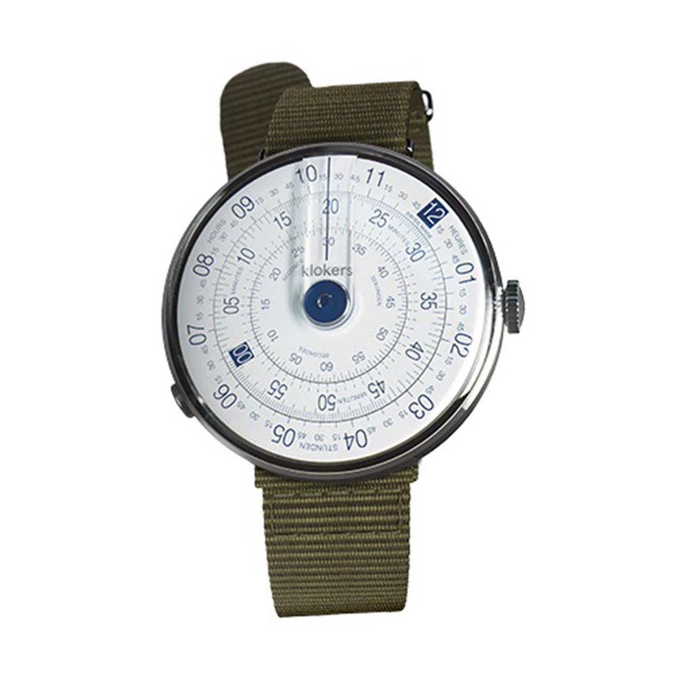 klokers | KLOK-01-D4 錶頭 藍色 - 尼龍錶帶