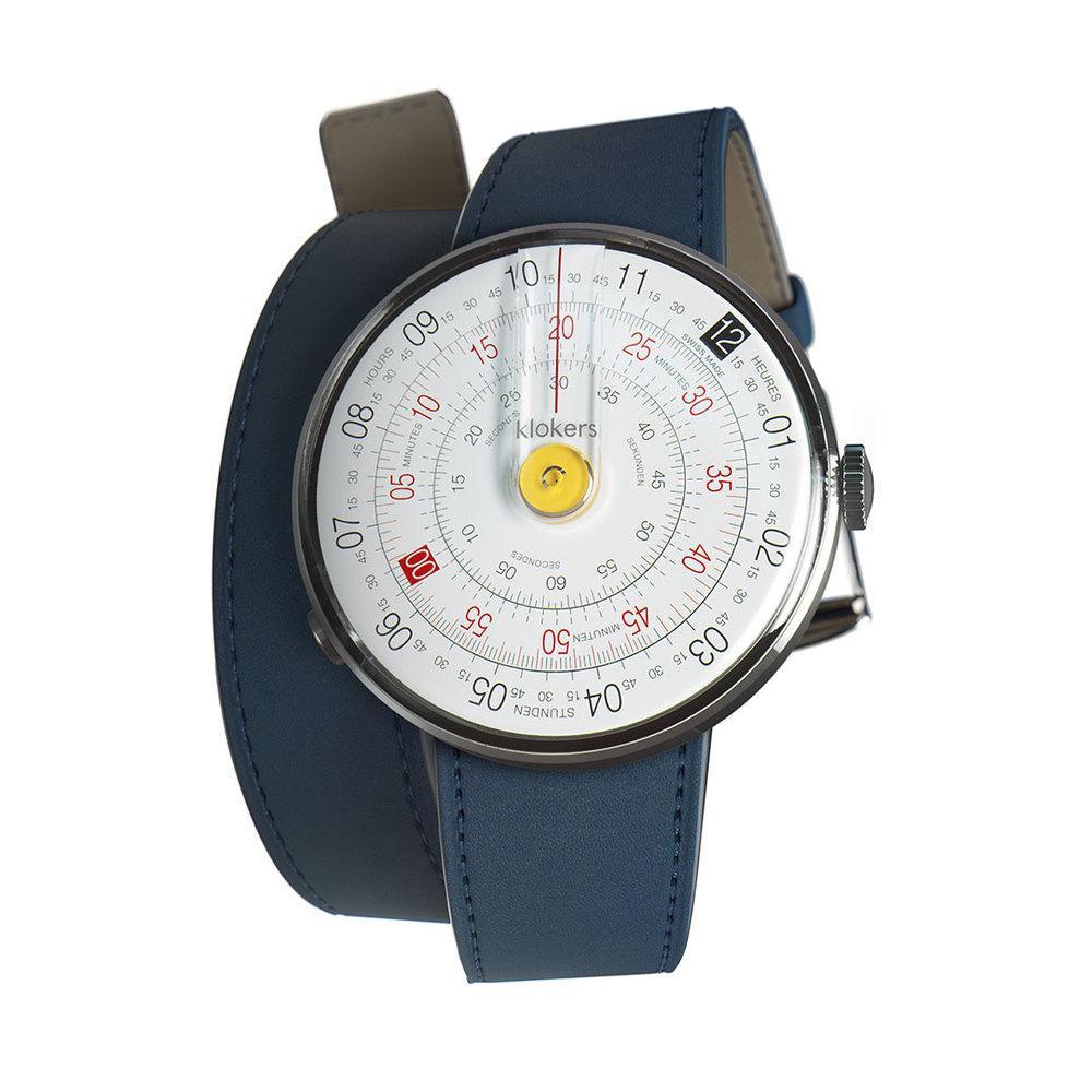 klokers | KLOK-01-D1錶頭 黃色 - 雙圈皮革錶帶