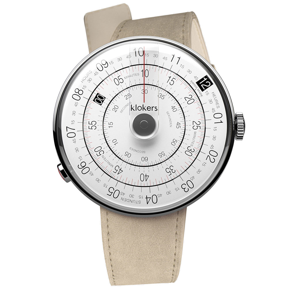klokers|KLOK-01-D2灰色錶頭-單圈皮革錶帶_錶徑44mm