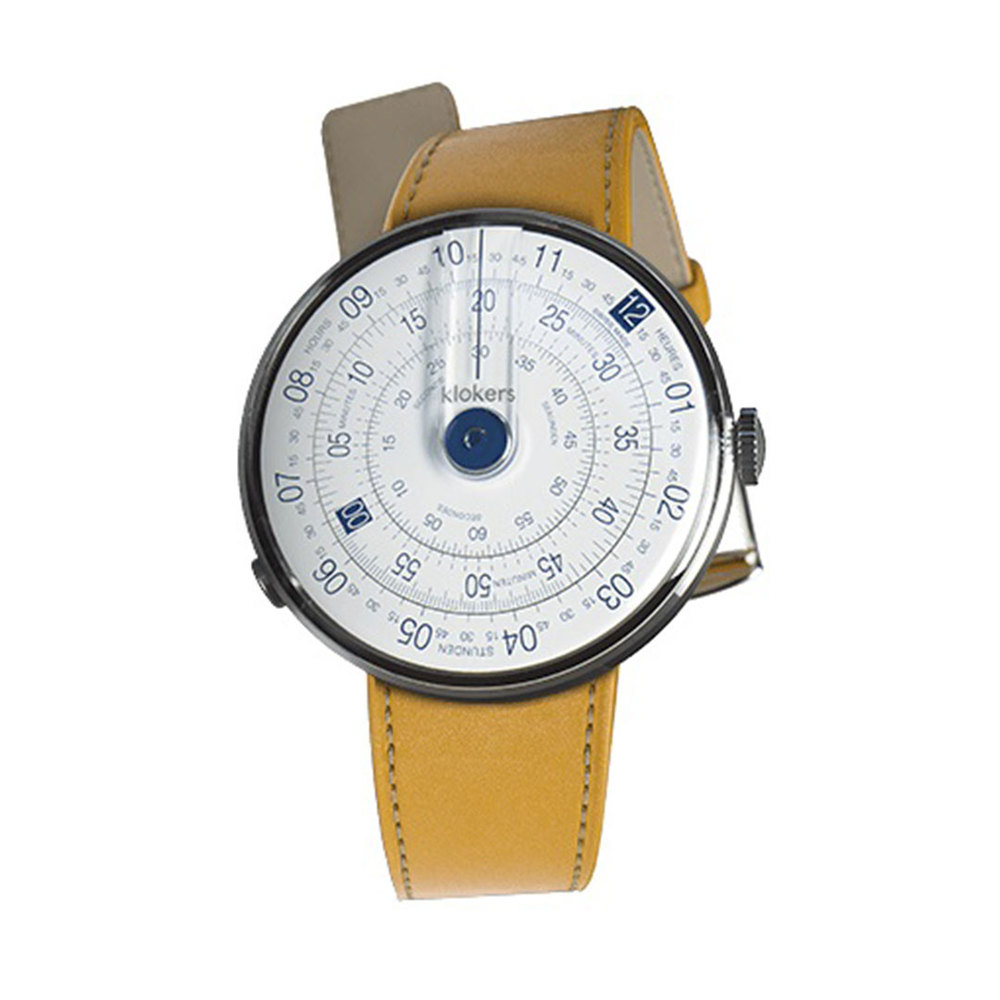 klokers | KLOK-01-D4錶頭 藍色 - 單圈皮革錶帶