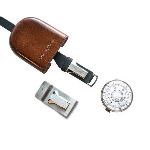 klokers |  KLOK-08 白軸時尚皮革懷錶套件組