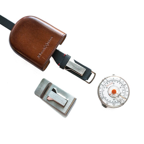 klokers |  KLOK-08 橘軸時尚皮革懷錶套件組