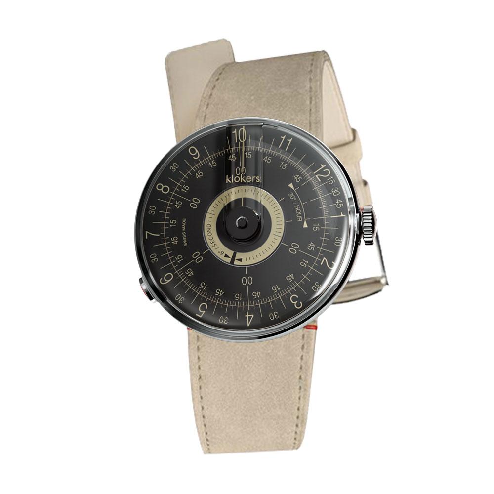 klokers | KLOK-08-D3 錶頭 黑軸 - 單圈皮革錶帶