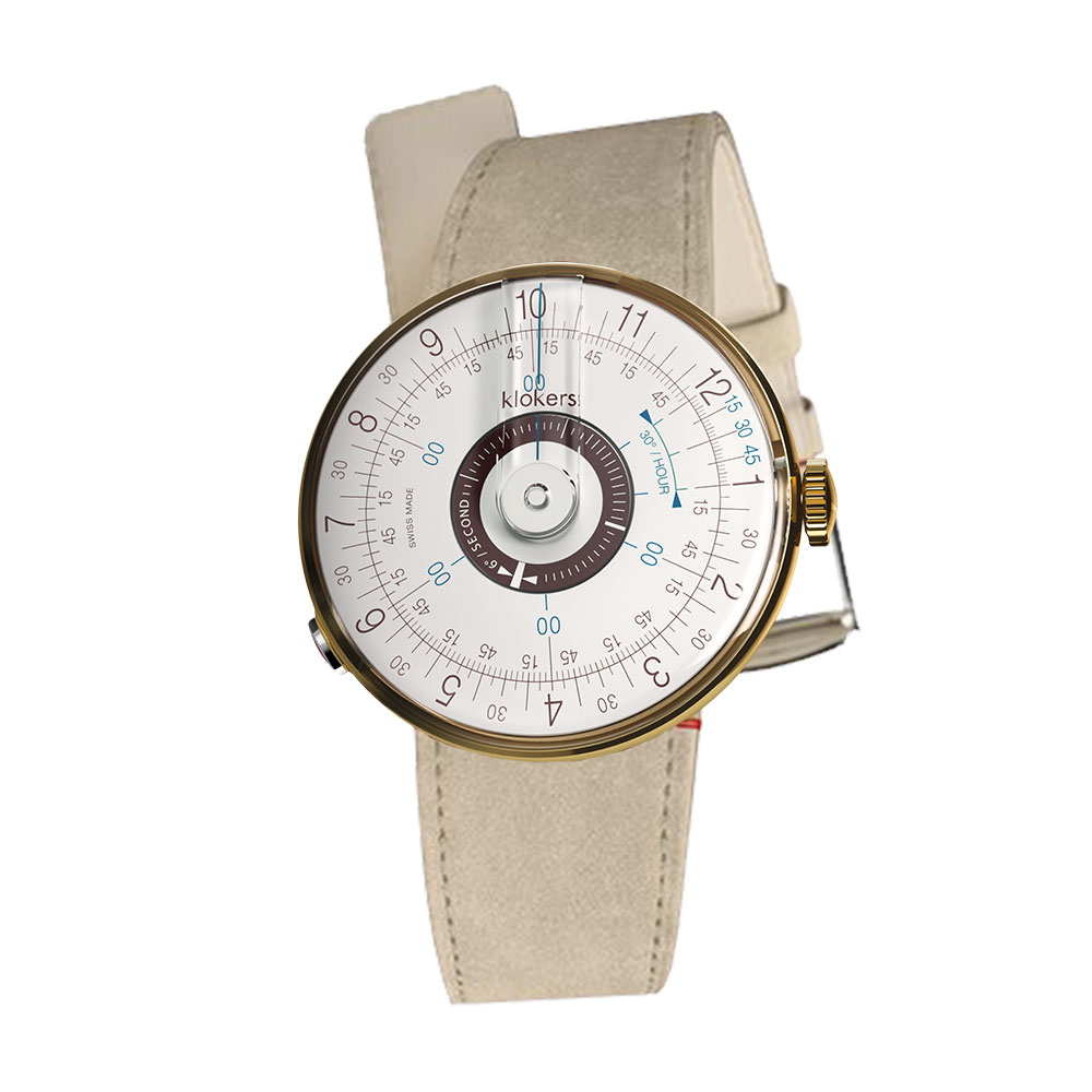 klokers | KLOK-08-D5 孔雀藍錶頭 - 單圈皮革錶帶