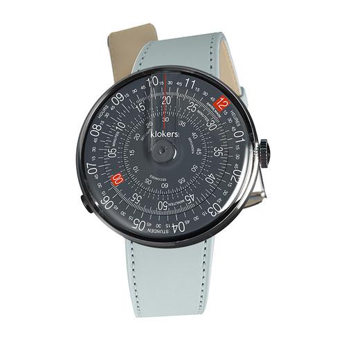 klokers   KLOK-01-D8  深灰色錶頭 - 單圈皮革錶帶