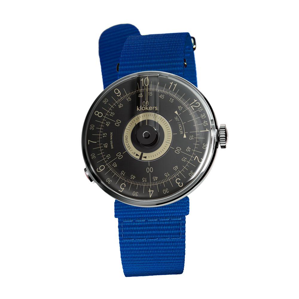 klokers | KLOK-08-D3  錶頭 黑軸 - 尼龍錶帶