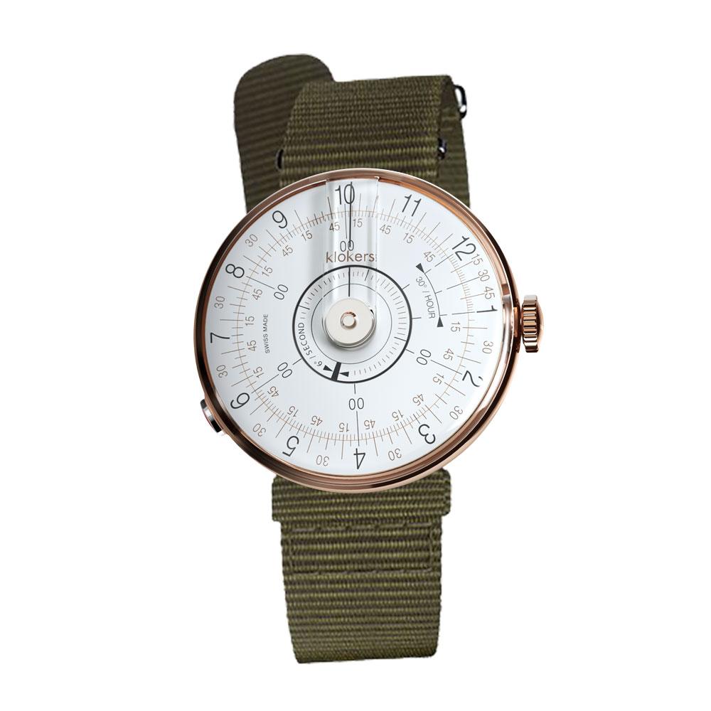 klokers | KLOK-08-D1  錶頭 白軸 - 尼龍錶帶