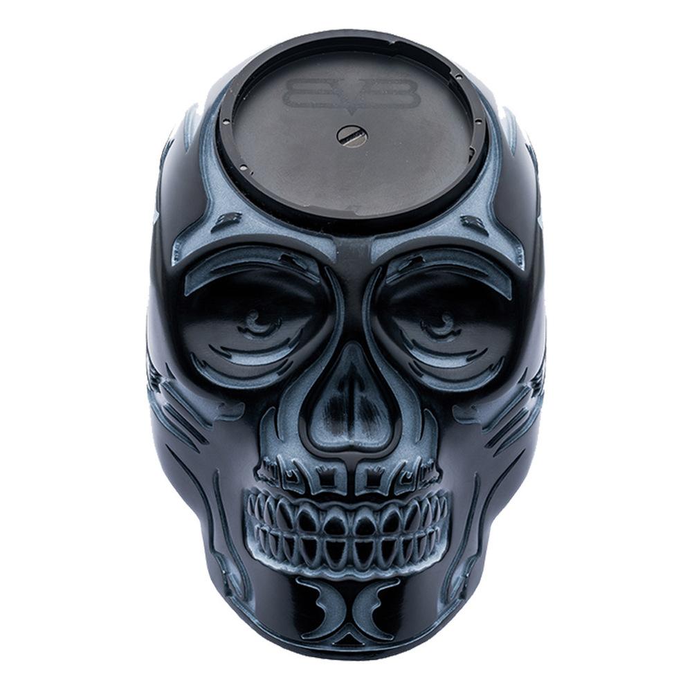 BOMBERG | BOLT-68 黑色骷髏桌鐘座