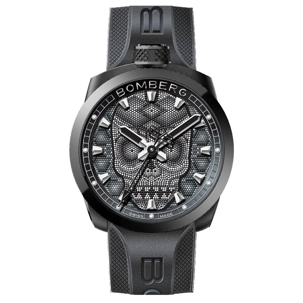 BOMBERG | BOLT-68 全黑珍珠骷髏計時碼錶
