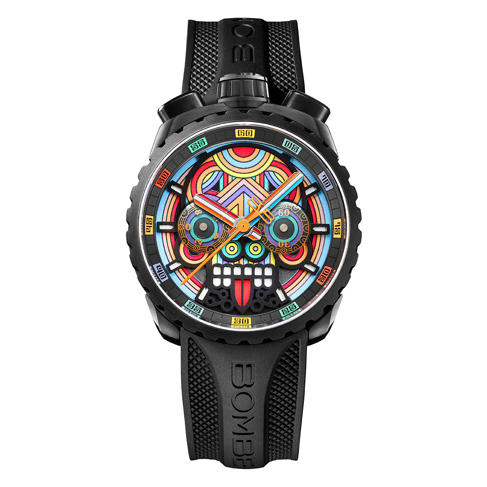 BOMBERG   BOLT-68 瑪雅骷髏計時碼錶