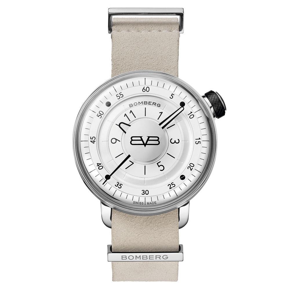 BOMBERG BB-01 全鋼白面皮錶帶錶款-錶徑 43mm