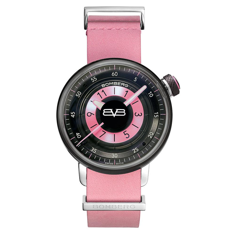 BOMBERG|BB-01 粉紅皮錶帶錶款-錶徑 38mm