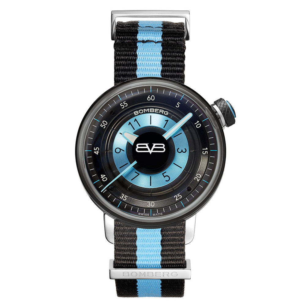 BOMBERG|BB-01 藍色帆布帶錶款-錶徑 38mm