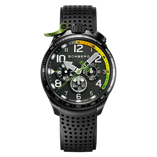 BOMBERG|BOLT - 68 RACING 系列 黑綠XL賽車計時碼錶-錶徑 45mm