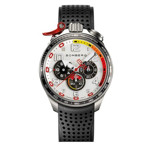 BOMBERG BOLT - 68 RACING 系列 全鋼白面XL賽車計時碼錶-錶徑 45mm