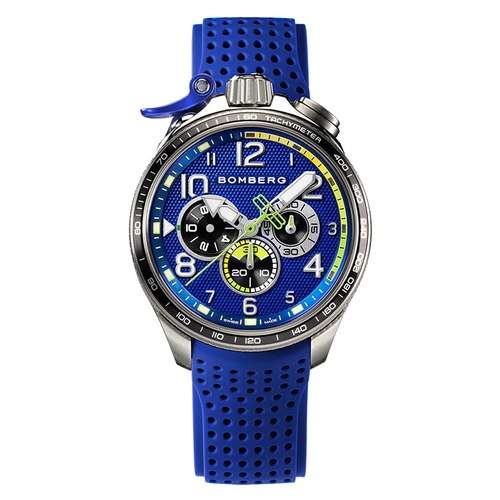 BOMBERG|BOLT - 68 RACING 系列 全鋼藍面XL賽車計時碼錶-錶徑 45mm