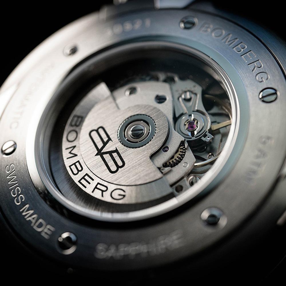 BOMBERG|BB-01 自動機械系列 全鋼紅面自動大三針-錶徑 43mm