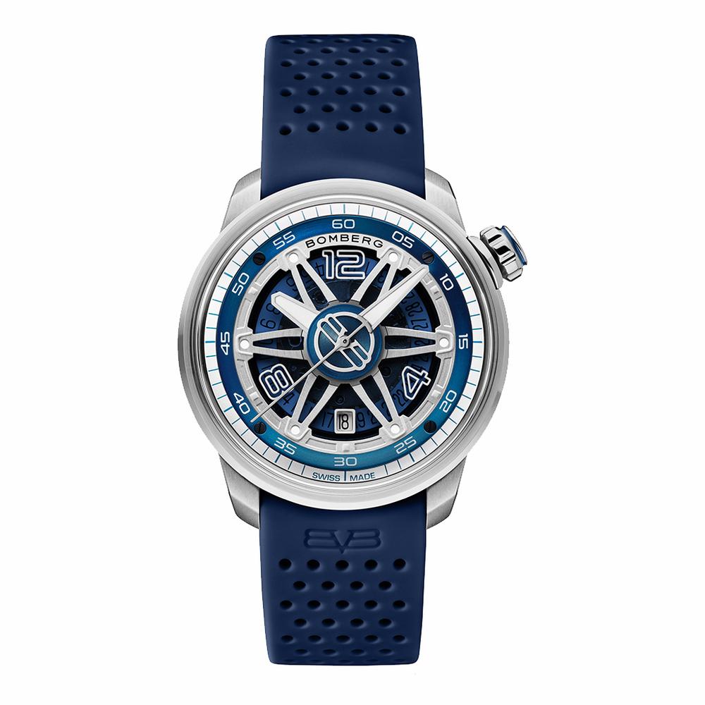 BOMBERG|BB-01 自動機械系列 全鋼藍面自動大三針-錶徑 43mm