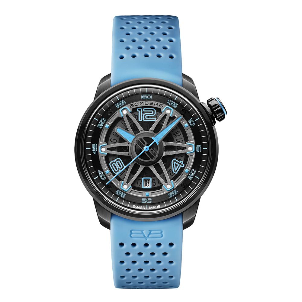 BOMBERG BB-01 自動機械系列 黑藍自動大三針-錶徑 43mm