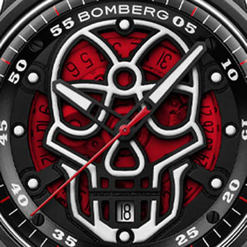BOMBERG|BB-01 自動機械系列 紅色火焰骷髏自動大三針-錶徑 43mm