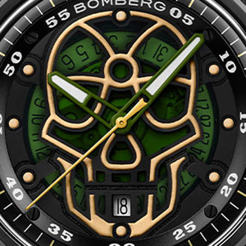 BOMBERG|BB-01 自動機械系列 軍綠迷彩骷髏自動大三針-限量版-錶徑 43mm