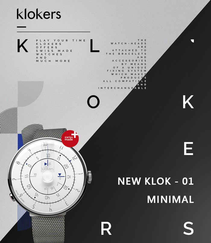 (複製)klokers   KLOK-01-M1 極簡白色錶頭 - 單圈尼龍錶帶