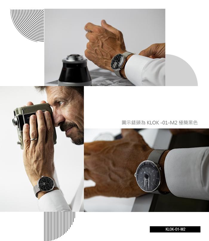 klokers   KLOK-01-M1 極簡白色錶頭 - 米蘭錶帶