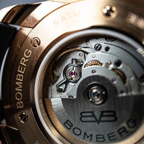 BOMBERG|BB-01 自動機械系列 玫瑰金色自動大三針-錶徑 43mm