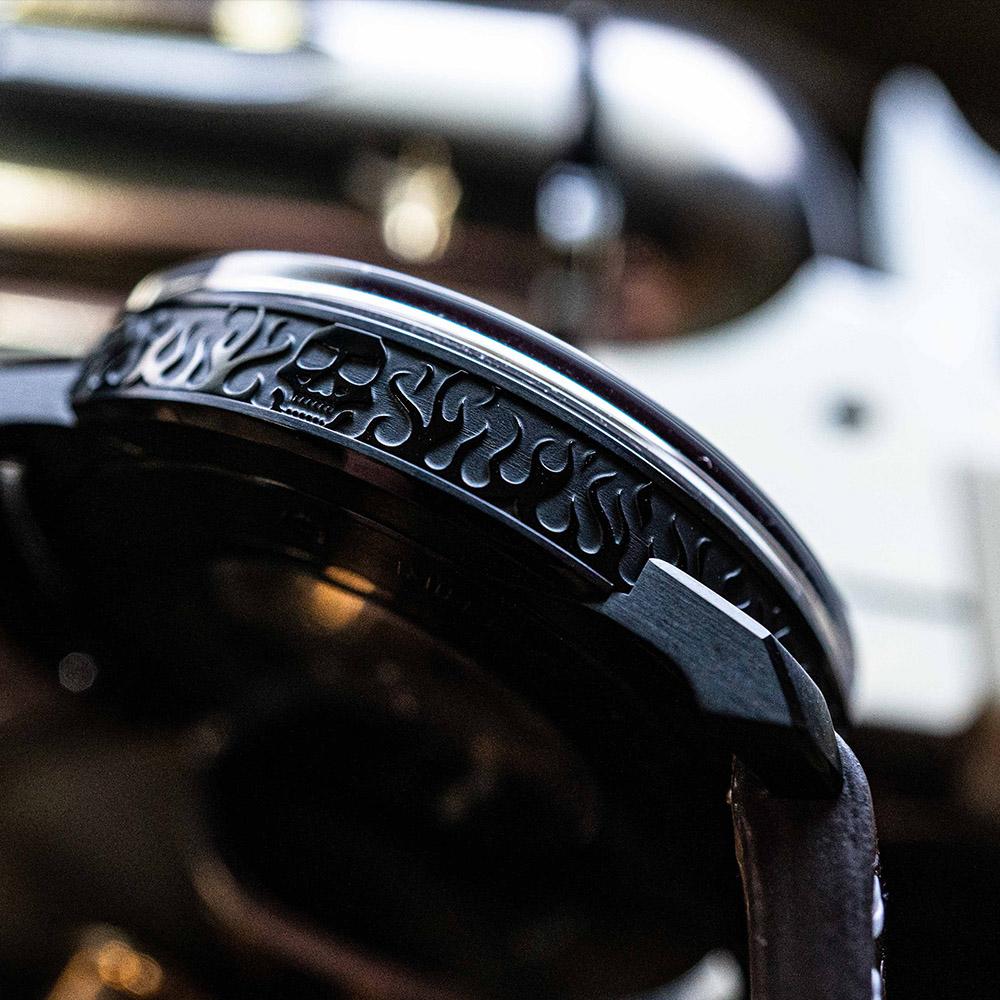 BOMBERG|BB-01 自動機械系列 雙槍骷髏自動大三針-錶徑 43mm