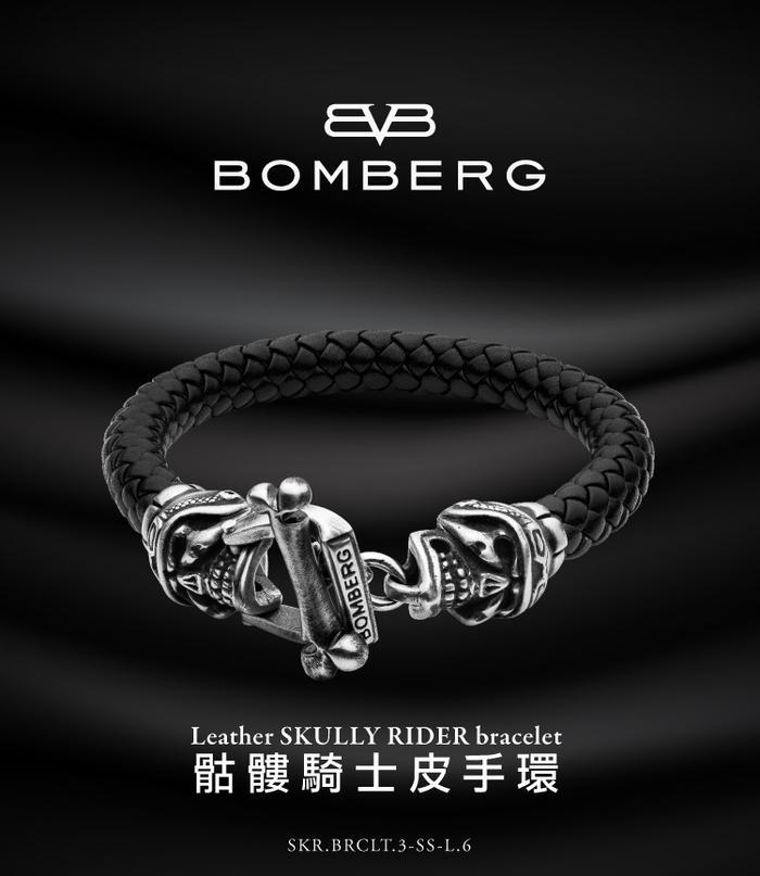 BOMBERG|彩色水鑽黑骷髏黑色手環_M-JW-BKT-PBA.M7.3