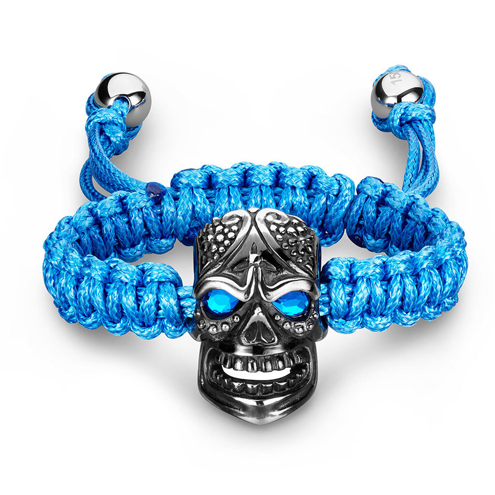 BOMBERG|藍色大巨頭骷髏手環