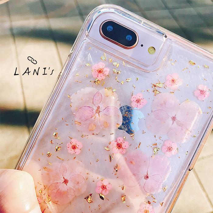 (複製)LANI's|Apple iPhone 手機殼-金箔小菊花