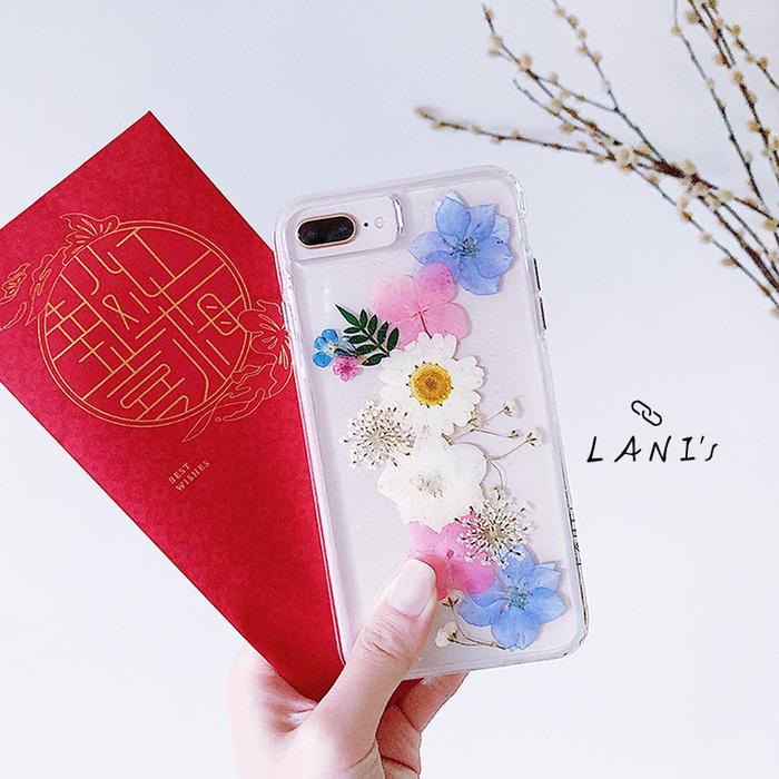 (複製)LANI's Apple iPhone 手機殼-粉色繡球花