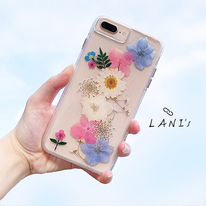 (複製)LANI's|Apple iPhone 手機殼-粉色繡球花