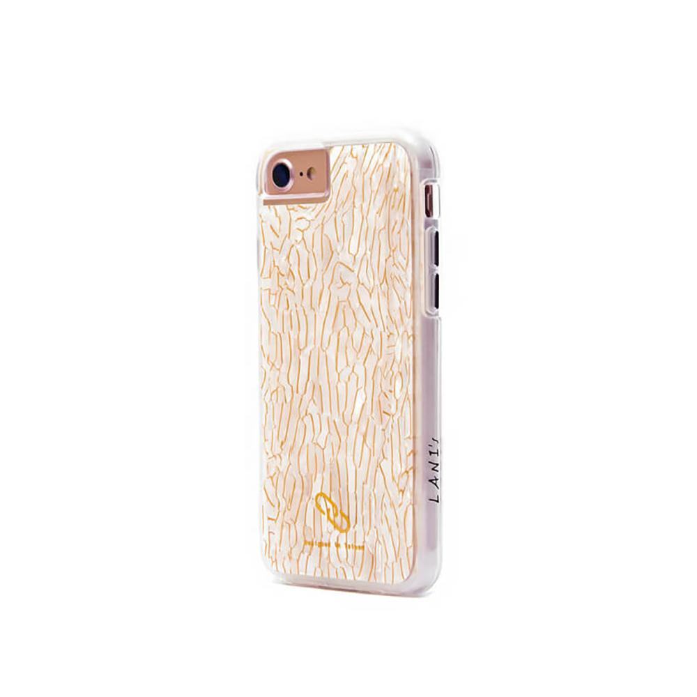 LANI's Apple iPhone 手機殼-鑲金白貝殼