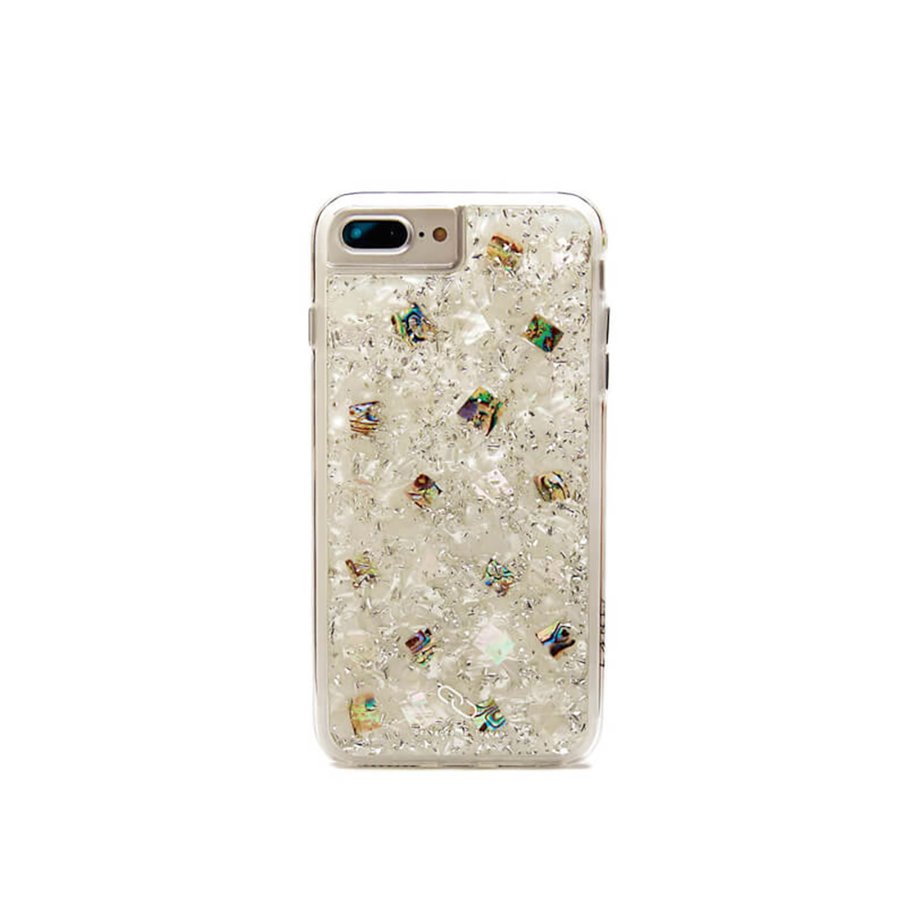 LANI's|Apple iPhone 手機殼-銀箔白底貝殼