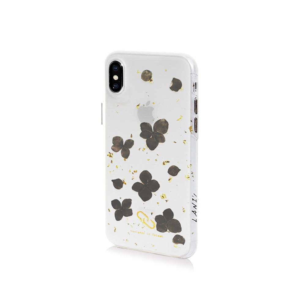 LANI's|Apple iPhone 手機殼-手工染黑花手機殼