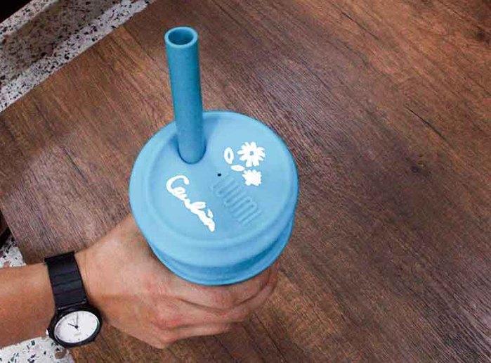 LUUMI Bubble Tea Lid  珍珠奶茶密封蓋 藍