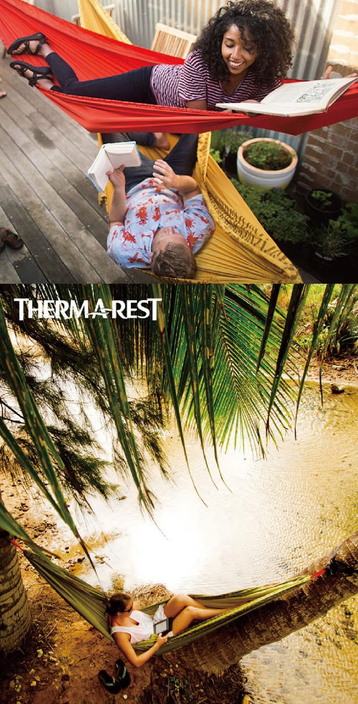 Therm-A-Rest|Slacker 單人吊床 湖水藍 (含快速掛繩)