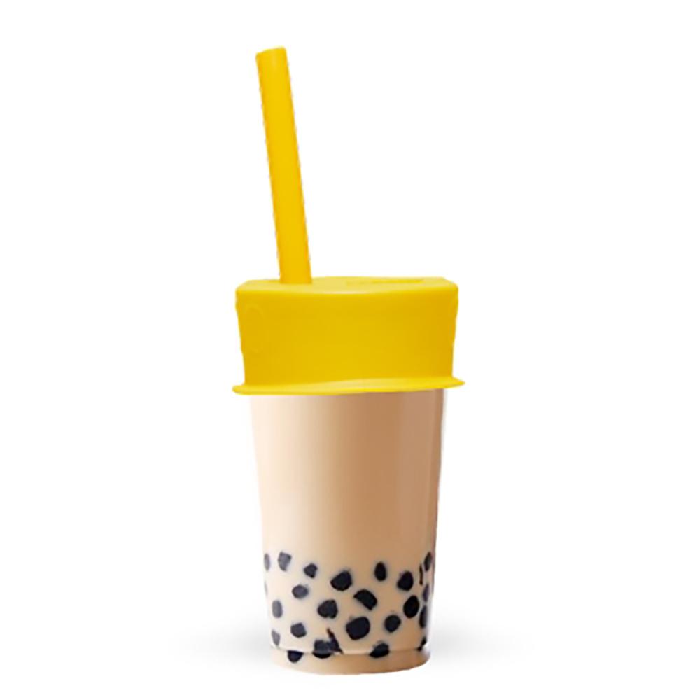 LUUMI|Bubble Tea Lid  珍珠奶茶密封蓋(含吸管) 黃
