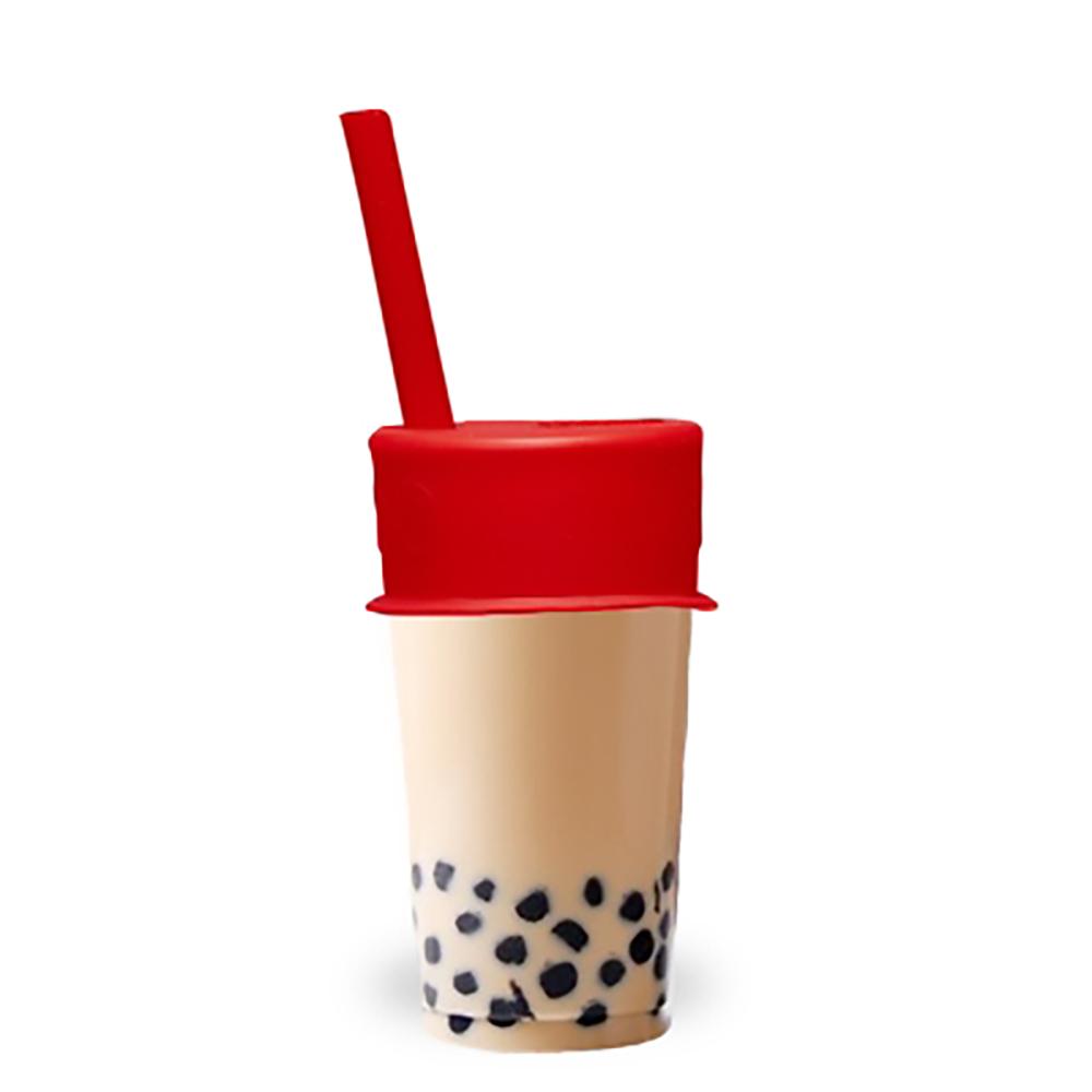 LUUMI|Bubble Tea Lid  珍珠奶茶密封蓋(含吸管) 紅