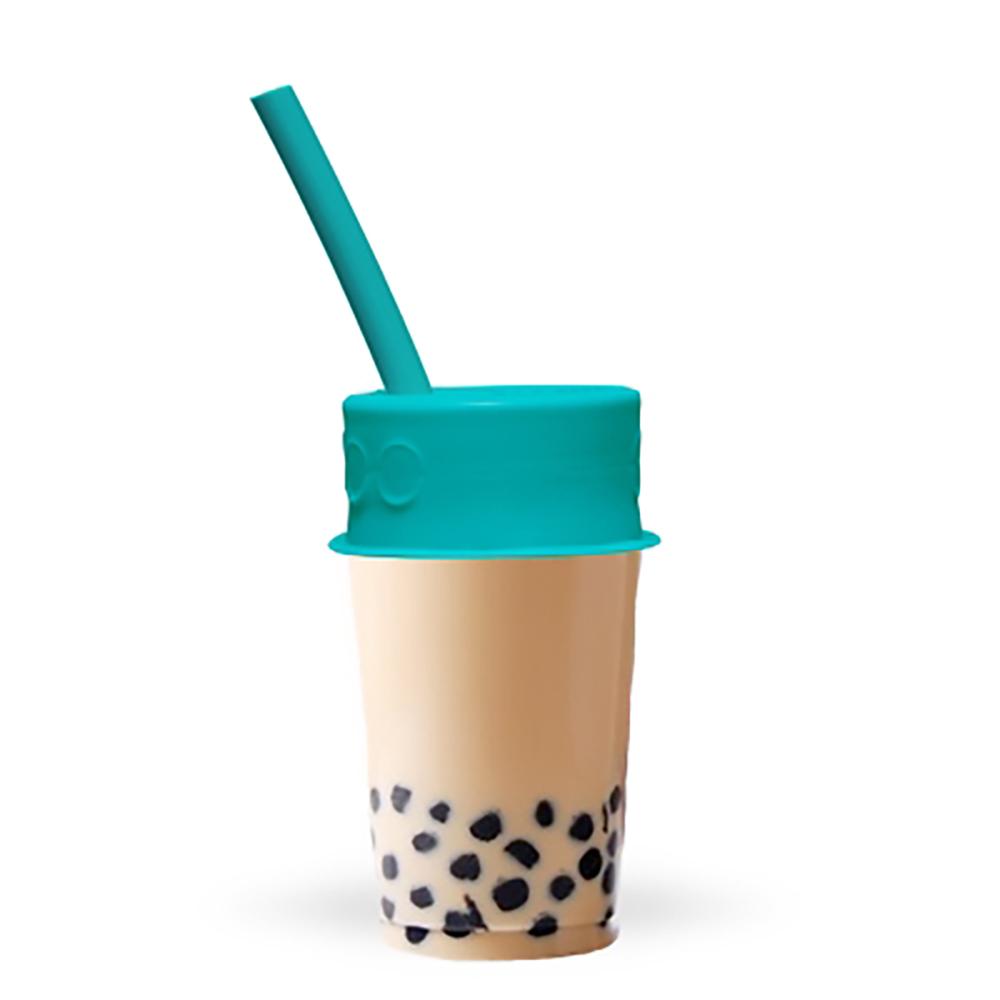 LUUMI|Bubble Tea Lid  珍珠奶茶密封蓋(含吸管) 藍