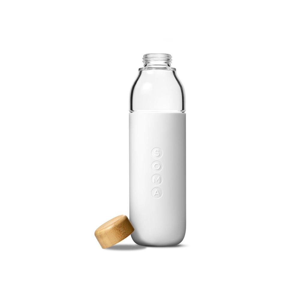 美國SOMA 玻璃水瓶-時尚白