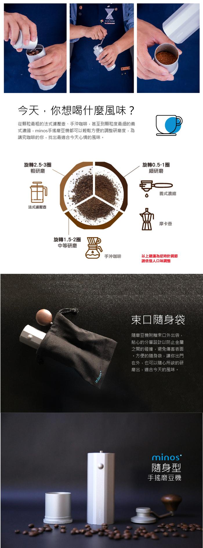 Minos | 手搖磨豆機(黑色)