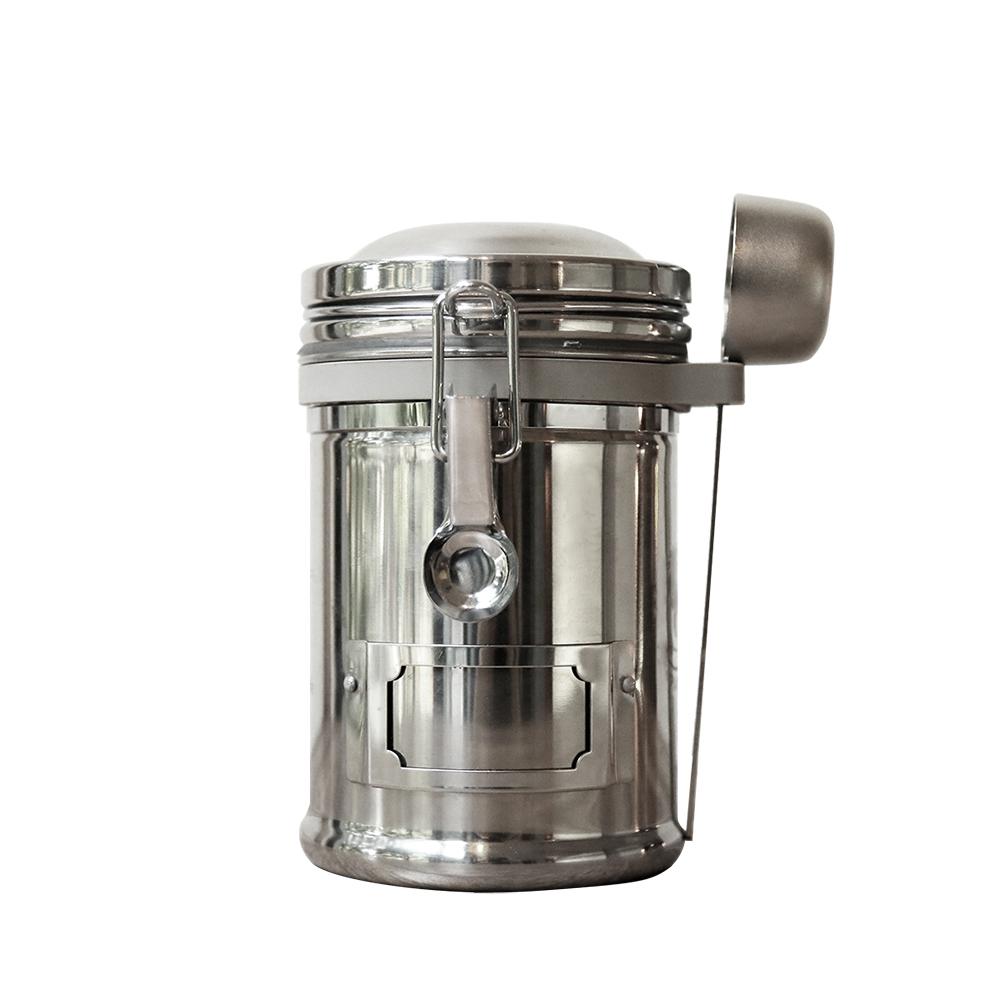 EARTH | 大不列顛密封罐(不鏽鋼原色)贈送豆匙收套圈+豆匙
